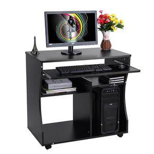 MEUBLE INFORMATIQUE Bureau Informatique Roulant Table Informatique ave