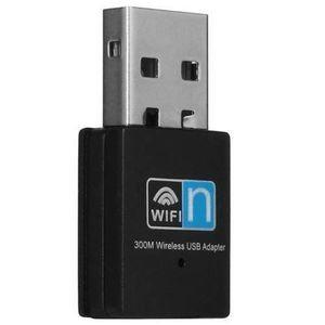 CÂBLE AUDIO VIDÉO Mini USB sans fil 300Mbps WiFi adaptateur 802.11n