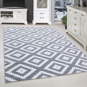 TAPIS Tapis design moderne salon géométrique motif rugue