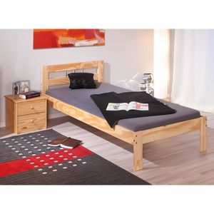 lit une place avec sommier achat vente lit une place. Black Bedroom Furniture Sets. Home Design Ideas