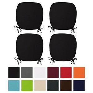 COUSSIN DE CHAISE  Beautissu Lot de 4 Galettes de chaise 38x38x1,5cm