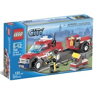 ASSEMBLAGE CONSTRUCTION LEGO City 7942 Le 4x4 des Pompiers