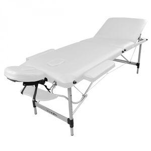 Table Reiki en de pliante avec 3 zones massage bois panneau JculKF3T15
