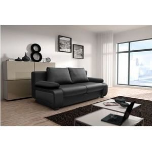 canap cuir achat vente canap cuir pas cher black friday le 24 11 cdiscount. Black Bedroom Furniture Sets. Home Design Ideas