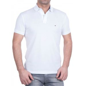 POLO Tommy-Hilfiger-Polo-Blanche