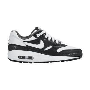 BASKET NIKE Air Max 1 Print JR Blanc Noir -