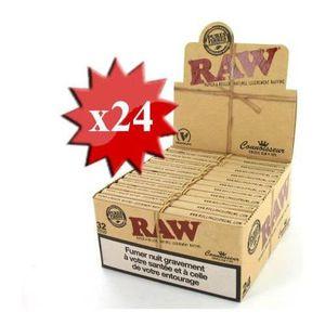 FEUILLE À ROULER papier à rouler raw slim + tips x 24
