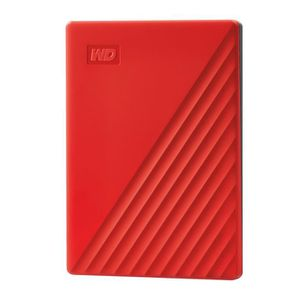 DISQUE DUR EXTERNE WD My Passport 2To Rouge + 1 Housse Rigide Offerte