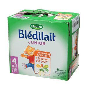 LAIT DE CROISSANCE BLEDINA Blédilait junior Brique de lait - 6x1 L -