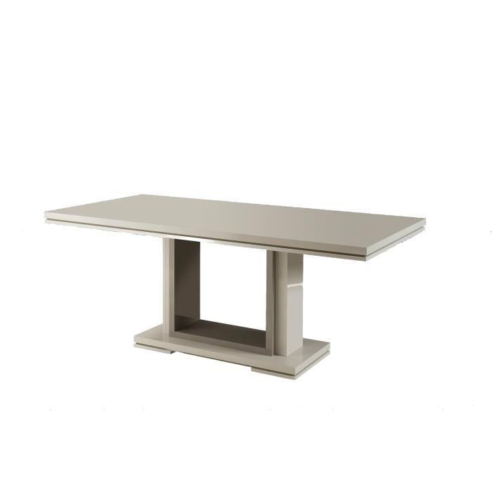 TABLE À MANGER SEULE RIMNI Table à manger fixe Taupe et gris laqué - L