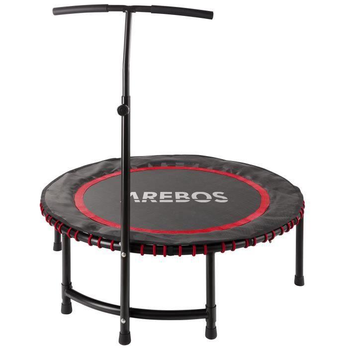 Trampoline d'exercice Mini Rebondisseur Trampoline de Fitness Rebondisseur Rouge
