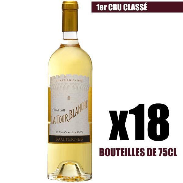 X18 Château La Tour Blanche 2016 75 cl AOC Sauternes 1er Cru Classé Vin Blanc Liquoreux