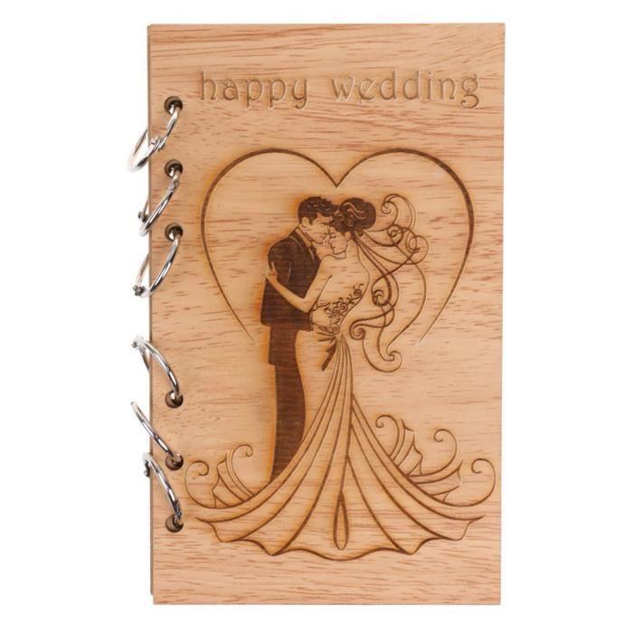 Classique Kraft papier en bois portable Portable Creative Love Journal livre cadeau D anonywe1106