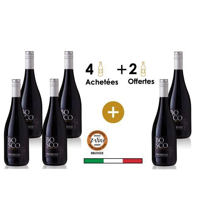 Prosecco Bosco DOC Area - X6 Vin effervescent d'Italie