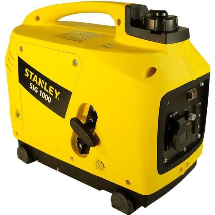 Generateur INVERTER STANLEY silencieux SIG1000 portable - 4 temps monophasé 1000W 53 cm3 Groupe électrogène