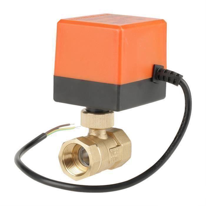 Motorisé robinet à tournant sphérique voies en laiton actionneur à boisseau AC 220 V G3 - 4 « DN20 2 pour Climatiseur -OHL