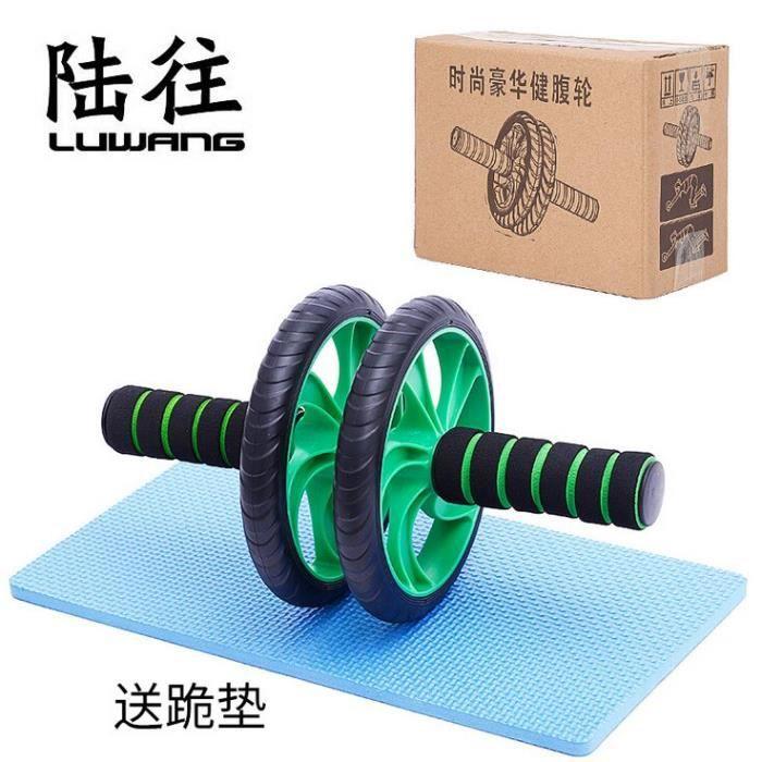 Double Ab rouleau étirement formateur résistance bande exercice élastique traction corde - Modèle: Abdominal wheel - HSJSTLDC06405