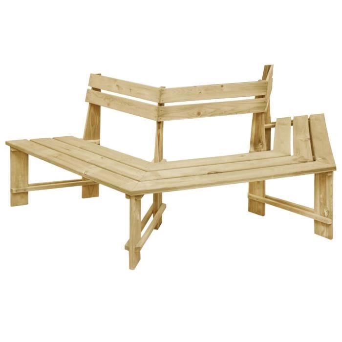 Banc de jardin d'extérieur Banc extérieur, balcon fauteuil de jardin scandinave - 240 cm Bois de pin imprégné 👄6021