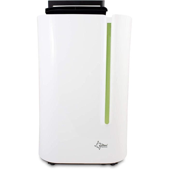 SUNTEC Déshumidificateur Electrique DryFix 20 Lumio Silencieux pour des pièces jusqu'à 150 m³ ~65 m², capacité de déshumidification=
