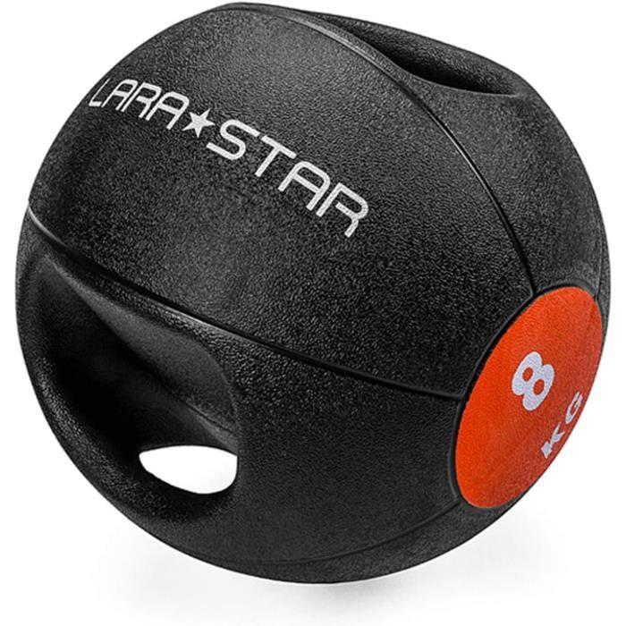 médecine balls home gym medicine ball 8kg - 17.6lb, boule boule de boule de boule de caoutchouc solide antidérapante à double 777