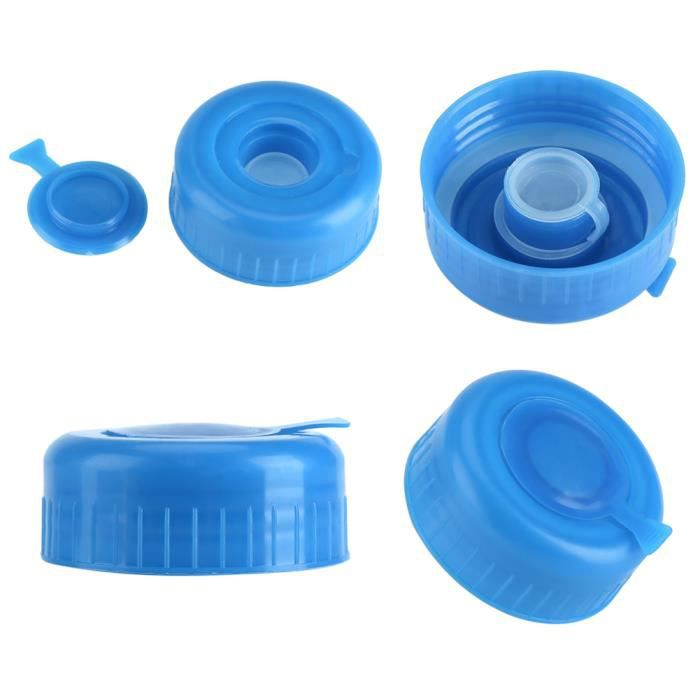Couvercle de bouteille d'eau d'un gallon inoffensif Vis de remplacement du bouchon, 5 capsules de bouteille d'eau de gallon bleu