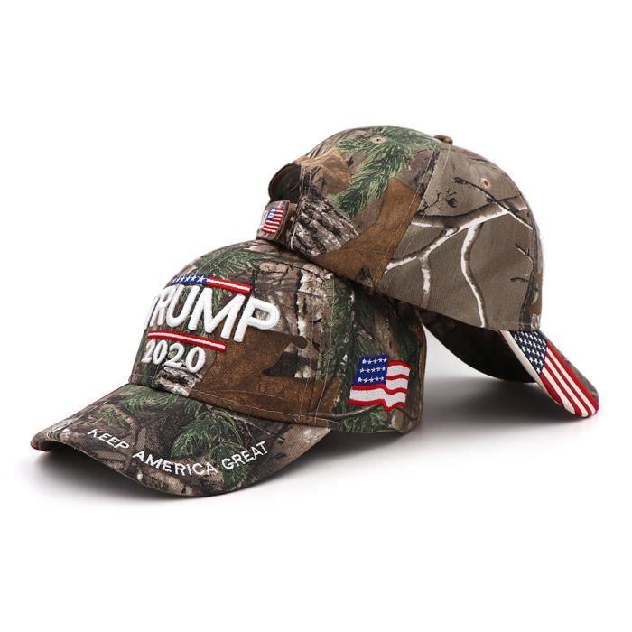 Donald Trump casquette de Camouflage - Casquette, drapeau américain, casquettes de Baseball, garder T2-CAMO One Size Fits Most