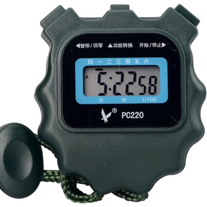 YLJY Chronomètre Numérique,Chronomètre,Chronomètre Digital Sports,Chronomètres de Sport Antichoc étanches Grand écran pour la Na,224