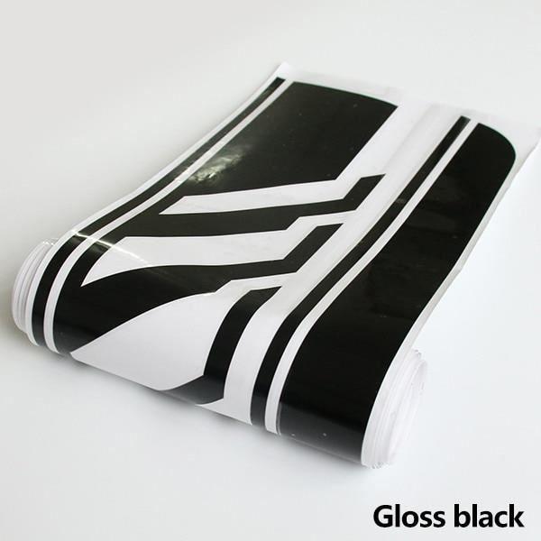 Gloss Black -Autocollant de jupe à rayures latérales, 1 édition, pour Mercedes Benz S205 classe C W205 Estate C180 C200 C280 C300 C3