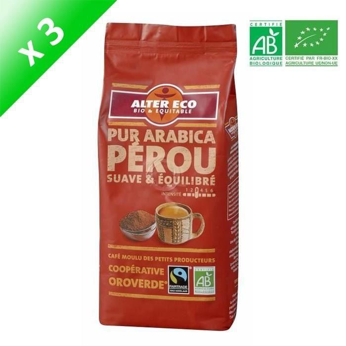 [LOT DE 6] Alter Eco Café Perou 100% Arabica 260g