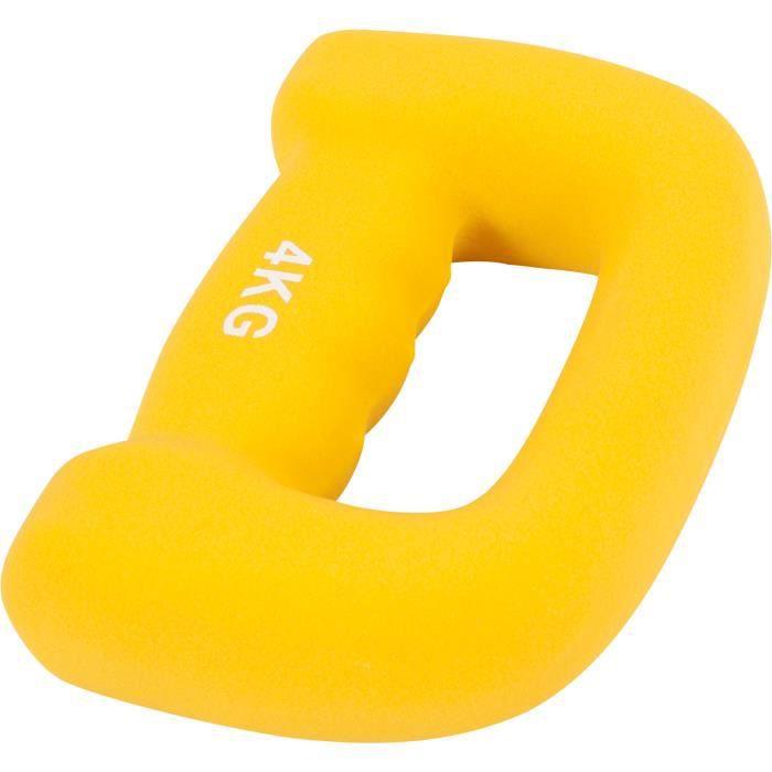 Gorilla Sports - Haltères fitness en néoprène ergonomique -Letter shape dumbbells- - 8 KG