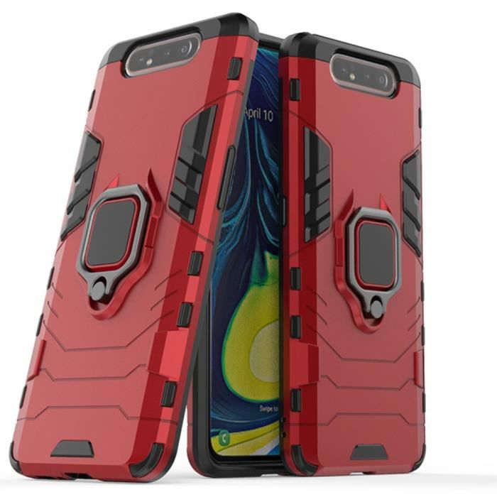 Samsung Galaxy A80 A90 Anti Choc Rouge Coque Housse Etui Antichoc hfs-house®