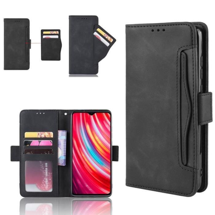 Etui Xiaomi Redmi Note 8T Portefeuille Noir En Cuir Pu hfs-house®