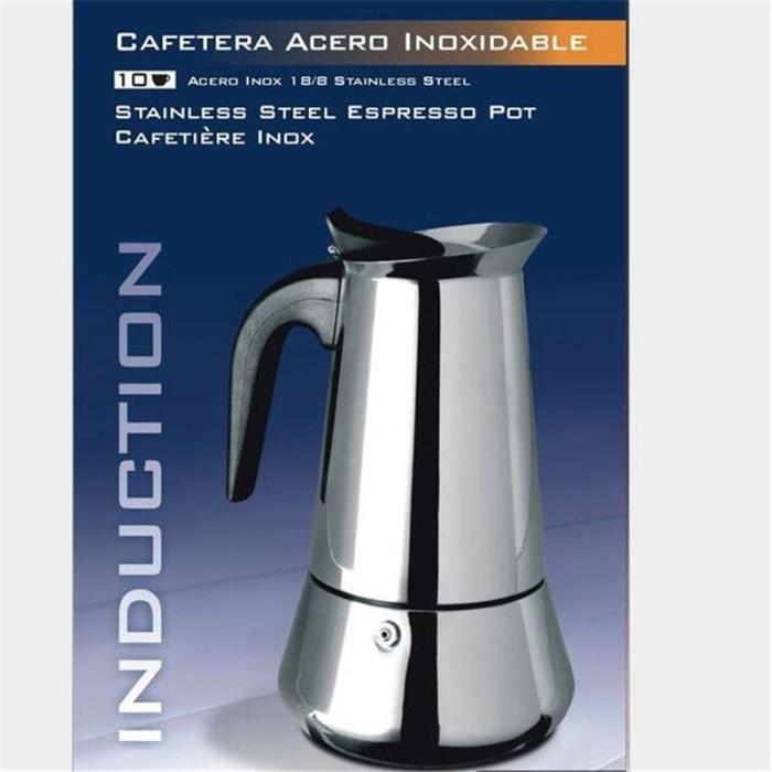 JINDING Cafetière INOX 9 Tasses VENUS INDUCTION