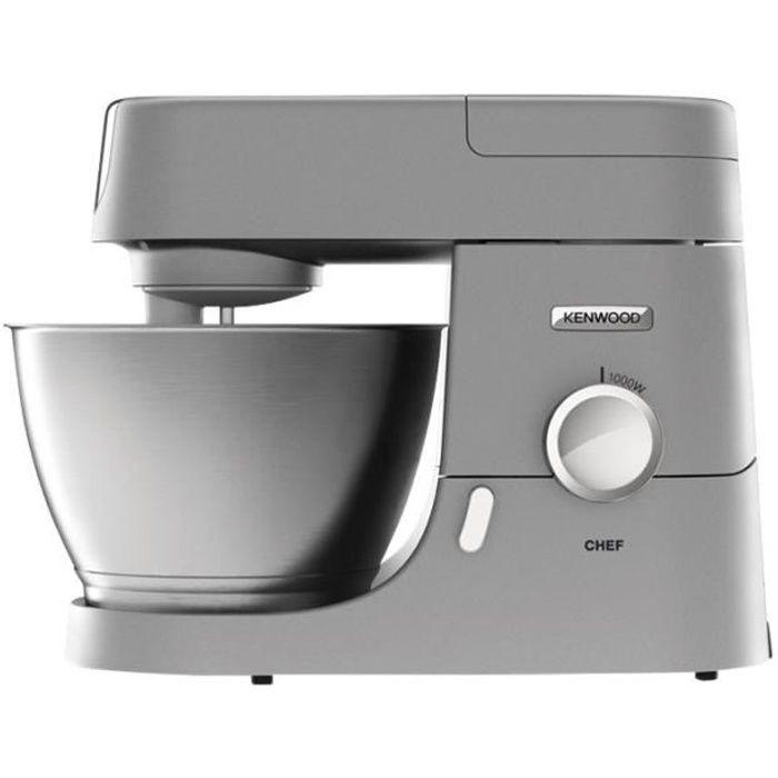 KENWOOD Robot pâtissier + blender 4.6 litres 8 vit Chef métal gris