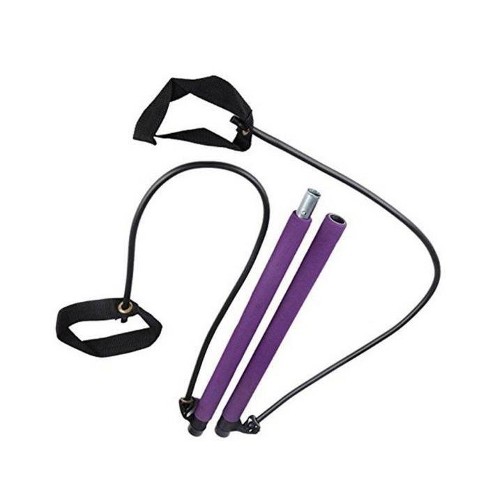 Kit de barre de Pilates portable avec bande de résistance Exercice de yoga Barre de Pilates avec boucle