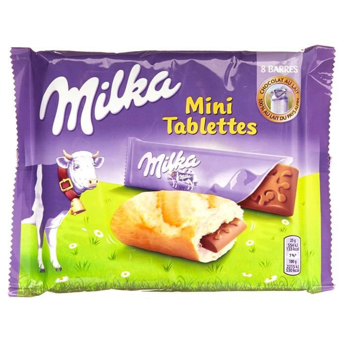 Milka Mini Tablettes (lot de 4)