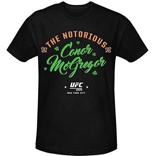 Homme Personnalisé Tee Shirt Homme Pas Cher Ufc 205 Conor Notorious Mcgregor Script Noir