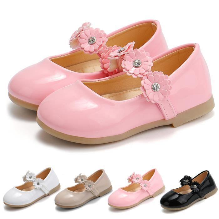 Chaussures de princesse pour fille tout-petit bébé enfants bébé fleurs sandales simples chaussures blanc 6214