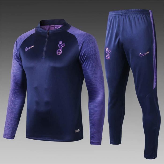 Tottenham Hotspur - Maillot de Foot Homme Ensemble Survêtements D'entraînement de Football - Haut et Pantalon
