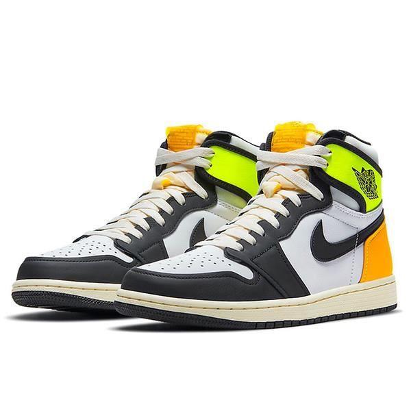 Air Jordans 1 High OG Retro -Volt Gold- Chaussures de Courses pour Femme Homme Jaune Orange