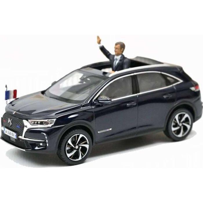 DS7 Crossback Présidentielle République Française 2017 Avec Figurine Président Emmanuel MACRON Voiture de Collection NOREV 1/43