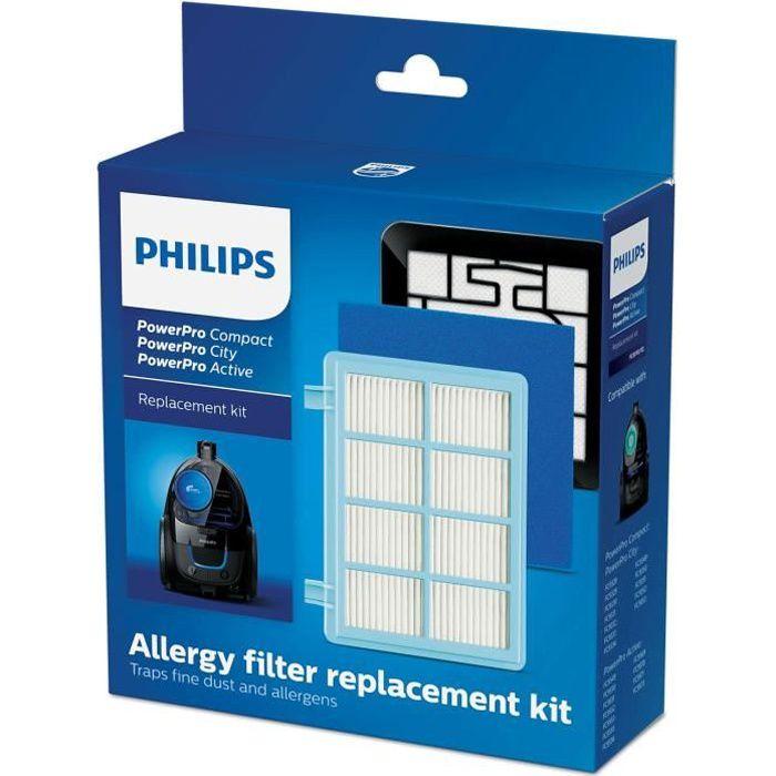 Kit de rechange PHILIPS FC8010/02 Compatible PowerPro Compact et PowerPro Active