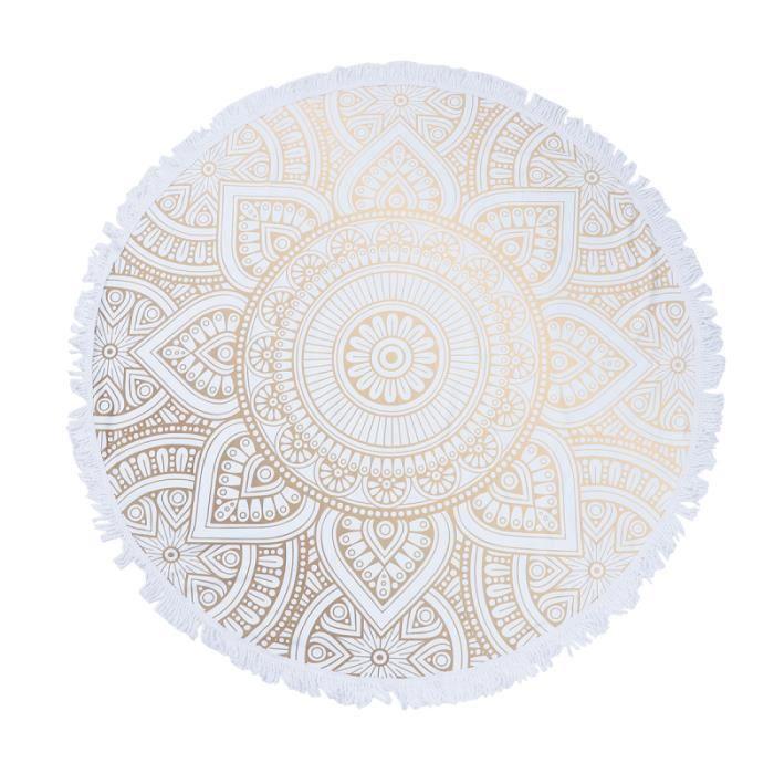 Couverture de plage ronde Mandala Tapisserie de table de pique-nique indienne SERVIETTE DE PLAGE - DRAP DE PLAGE - FOUTA