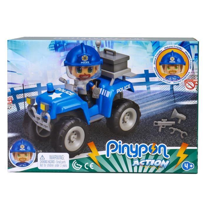 Pinypon Action - Le quad de police - 1 figurine incluse