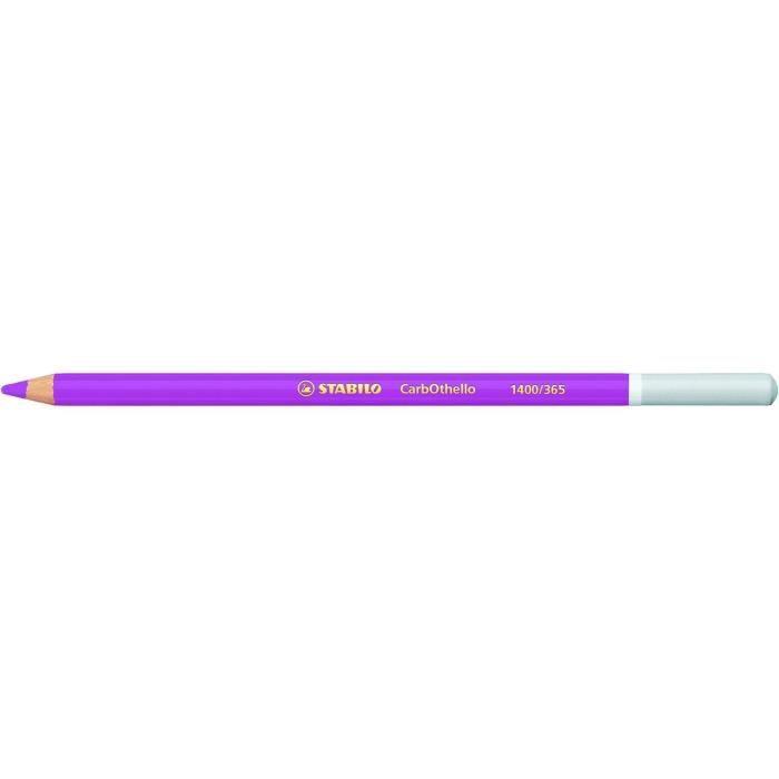 Lot de 12 Crayons de couleur Fusain Pastel CarbOthello Violet clair