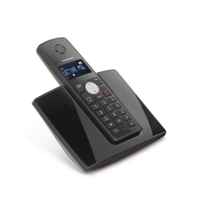 Thomson Beryl Solo Téléphone Sans Fil Sans Répondeur Noir