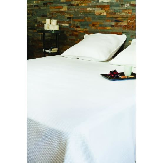 Couvre lit PERIGORD - Couleur - BLANC, Taille - 180X250