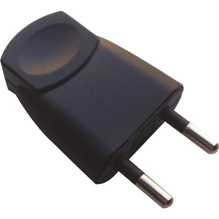 VOLTMAN Fiche électrique mâle - 6A - 2P - Noir