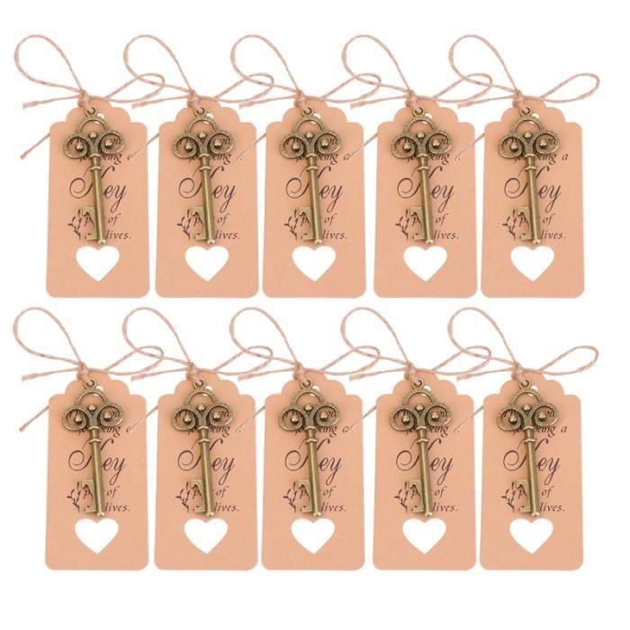 20 pièces étiquette clé ouvre-bouteille pendentif de mariage polyvalent pour proposition TIRE-BOUCHON - DECAPSULEUR - LIMONADIER
