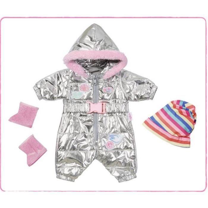 Baby Born Trend Combinaison de Neige Multicolore 43 cm
